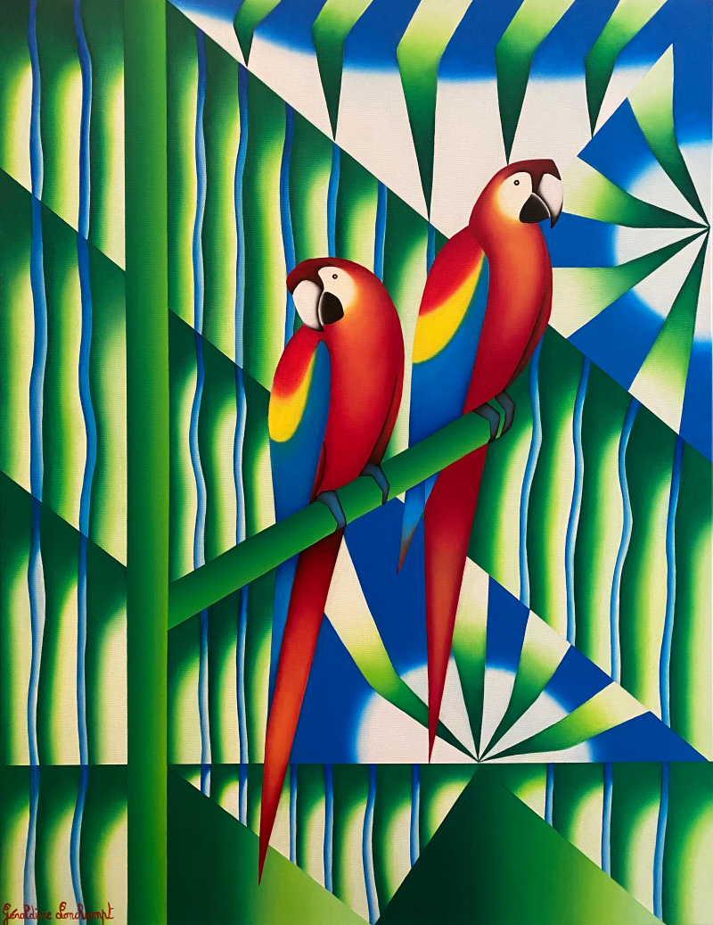 Dis-moi que tu m aimes Géraldine Lonchampt Artiste Peintre